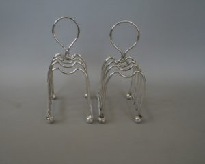 pair of silver plate toast racks/williamsantiques
