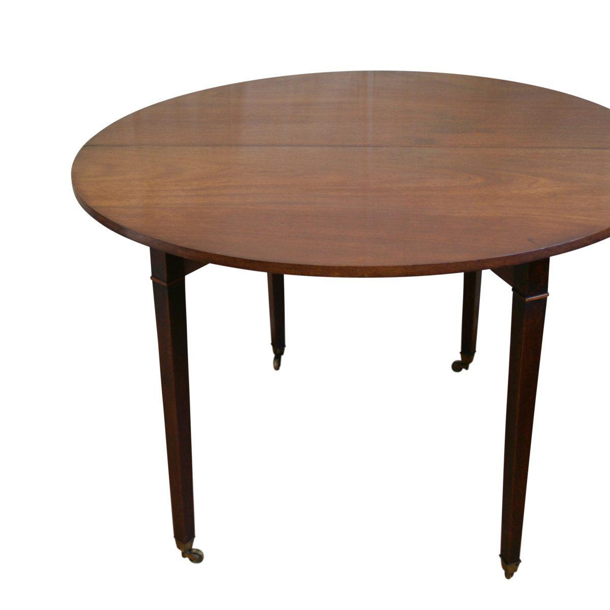 Georgian mahogany fold over demi-loom tea table/williamsantiques