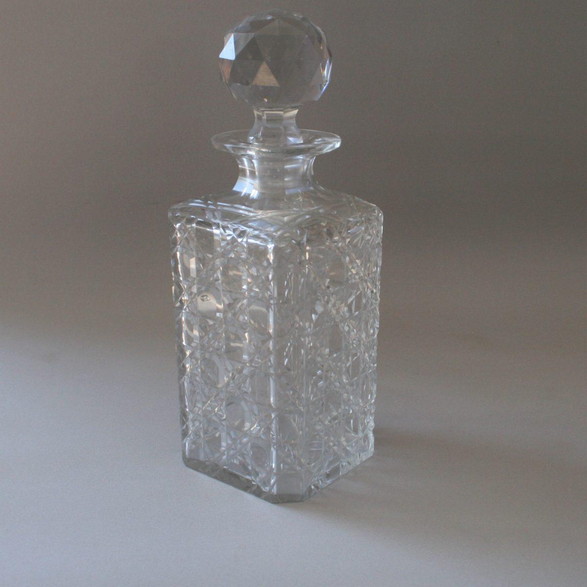 Georgian Hobnail cut decanter/williamsantiques
