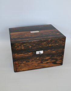 Victorian coromandel wood jewellery box /williamsantiques