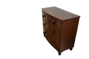 A small early Victorian mahogany Bowfront Chest of Drawers/williamsantiques