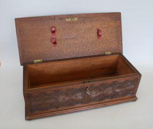 black walnut decorative candle box/williamsantiques