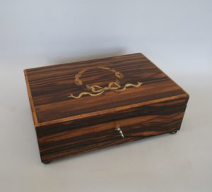 coromandel wood jewellery box/williamsantiques