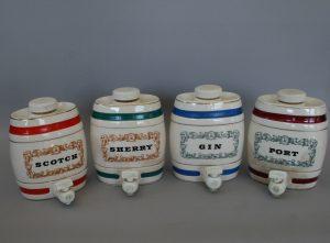 Royal Victoria pottery barrels for spirits/williamsantiques