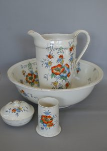 large wash jug (or Ewer) and basin set/williamsantiques