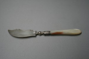 silver butter knife with Mother of Pearl handle/williamsantiques