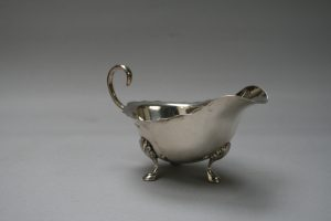 antique silver sauce boat/williamsantiques
