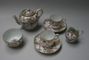 Continental 7 piece porcelain calling tea set/williamsantiques