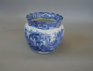 blue and white vase by H.M & co Ltd, England/williamsantiques
