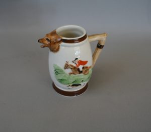 A small cream jug with a hunting scene Keele Street Pottery/williamsantiques