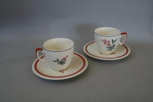 pair of porcelain Biltons coffee cups/williamsantiques
