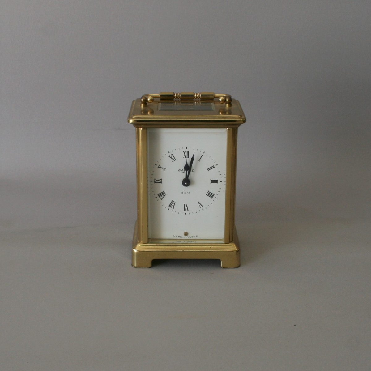 Bayard carriage clock with a solid brass case/williamsantiques