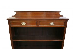 Edwardian mahogany open front bookcase/williamsantiques