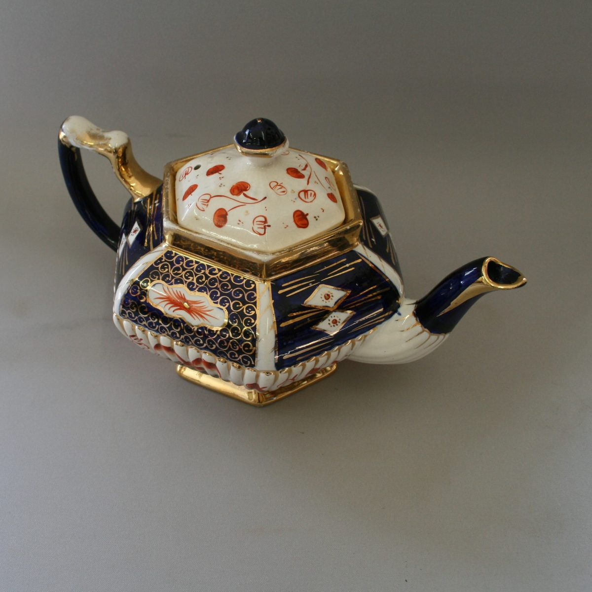 gaudy welsh pottery teapot/williamsantiques