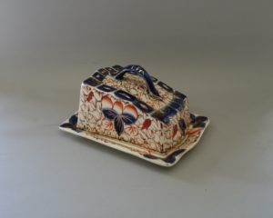 gaudy welsh pottery cheese plate and cover/williamsantiques