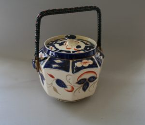 gaudy welsh pottery biscuit barrel/williamsantiques