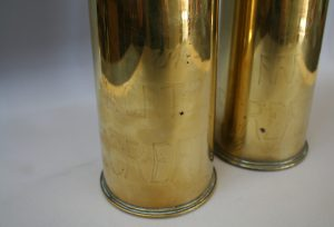 1917 brass artillery shells with trench art/williamsantiques