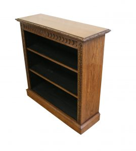 Victorian oak open front bookcase/williamsantiques