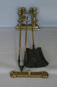 Victorian fire irons, dog and end stop/williamsantiques