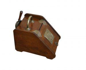 Art Nouveau walnut fireside coal scuttle/williamsantiques