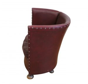 1950's faux leather tub chair/williamsantiques