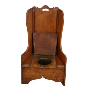 child's rocking commode chair/williamsantiques