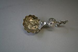 Dutch silver caddy spoon