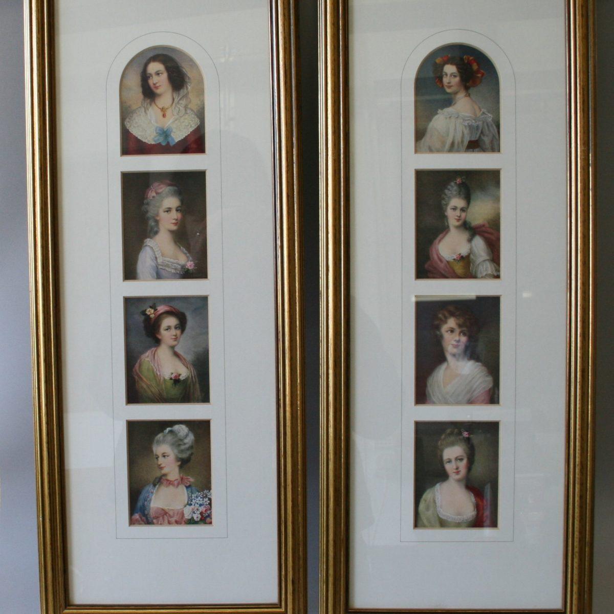prints showing four small portraits of ladies