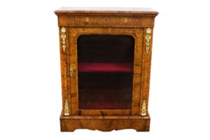 Victorian inlaid walnut pier cabinet/williamsantiques