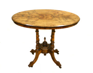 Edwardian walnut side table/williamsantiques