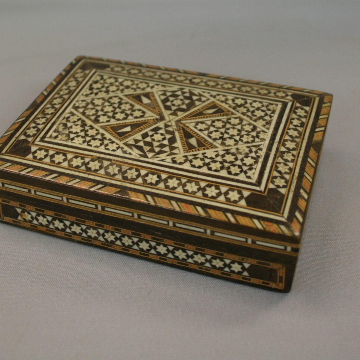 Moroccan style wooden trinket box/williamsantiques