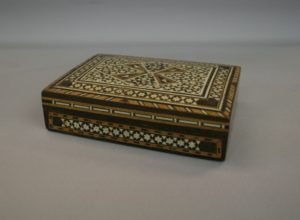 Moroccan style wooden trinket box/wiliamsantiques