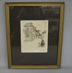 print of the Spread Eagle pub in Midhurst/williamsantiques