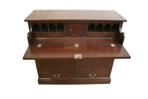 A Georgian mahogany secretaire cupboard/williamsantiques