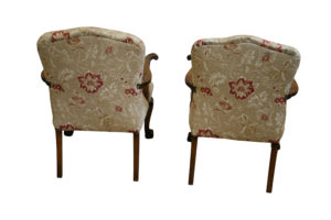 French walnut open armchairs/williamsantiques