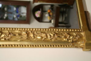 Victorian gilt overmantle mirror/williamsantiques
