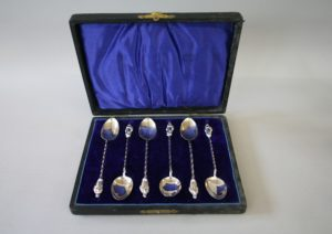 silver apostle coffee spoons/williamsantiques