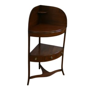 Georgian mahogany corner washstand/williamsantiques