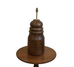 walnut wood bulbous shape turned lamp base