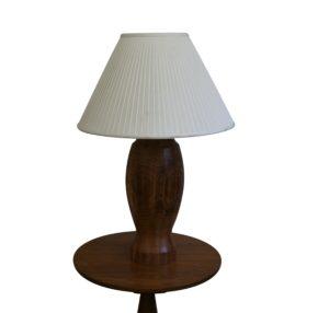 Ash wood bulbous shape turned lamp base