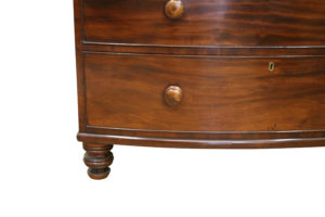 Victorian mahogany Bowfront Chest of Drawers/williamsantiques