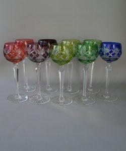 crystal hock glasses/williamsantiques