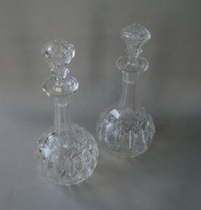 cut glass globe decanters/williamsantiques