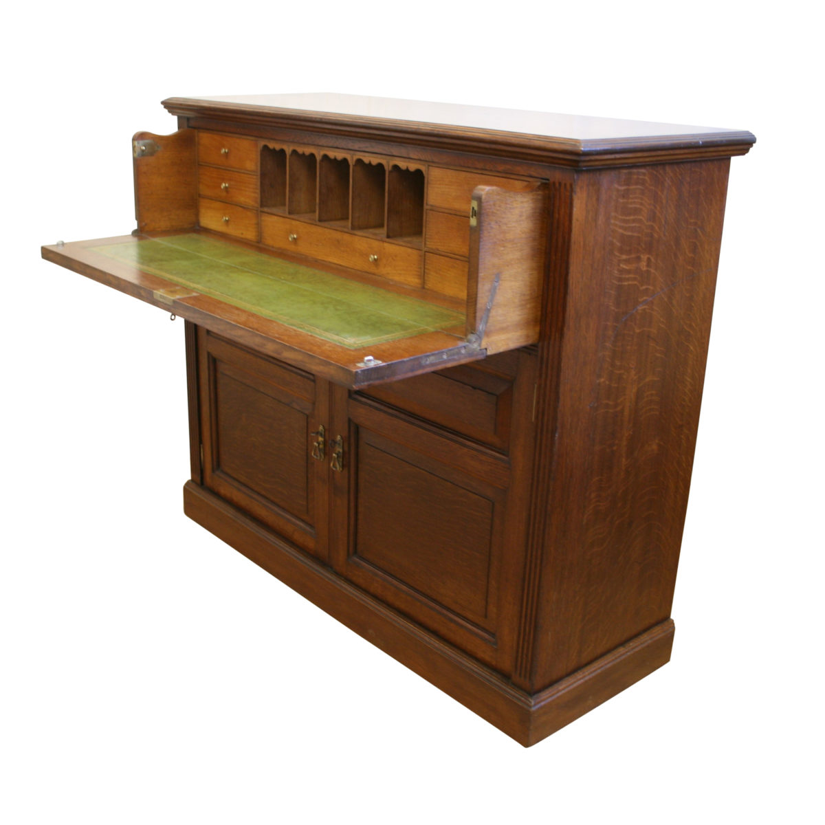 Edwardian oak secretaire cupboard/williamsantiques