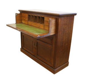 Edwardian oak secretaire cupboard/williamsantiques