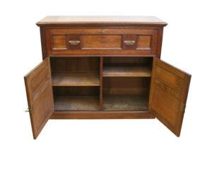 Edwardian oak secretaire cupboard