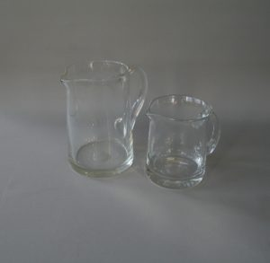 plain glass jugs/williamsantiques