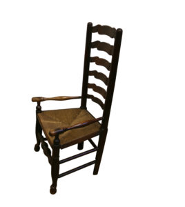 Ash ladder back chair/williamsantiques