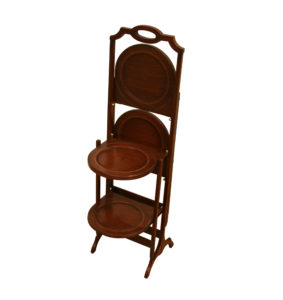 mahogany four tiered folding cake stand/williamsantiques