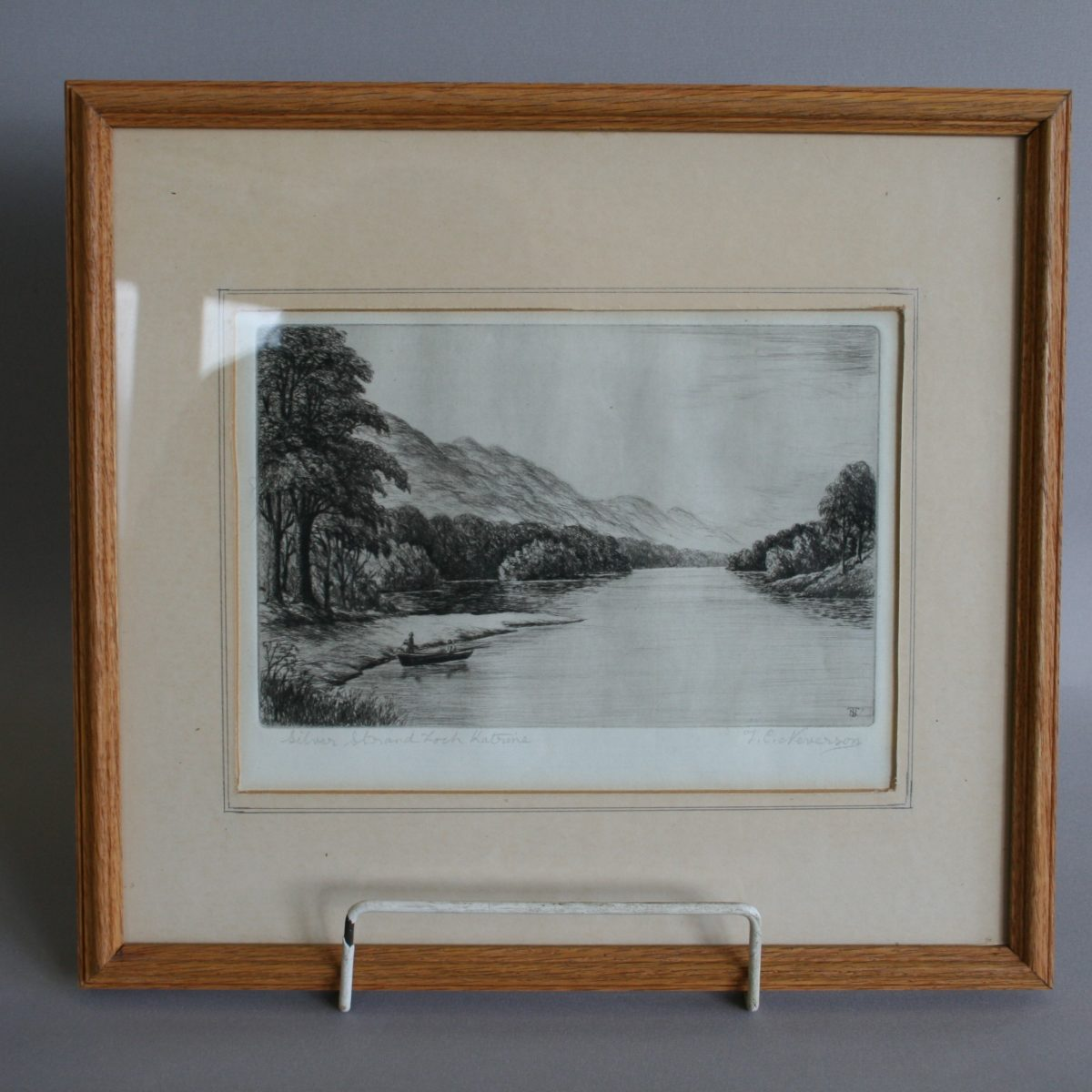 original signed etching by TC Neverson/williamsantiques